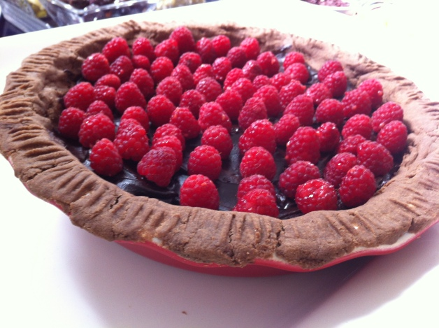 Gluten-Free Raspberry & Dark Chocolate Tart