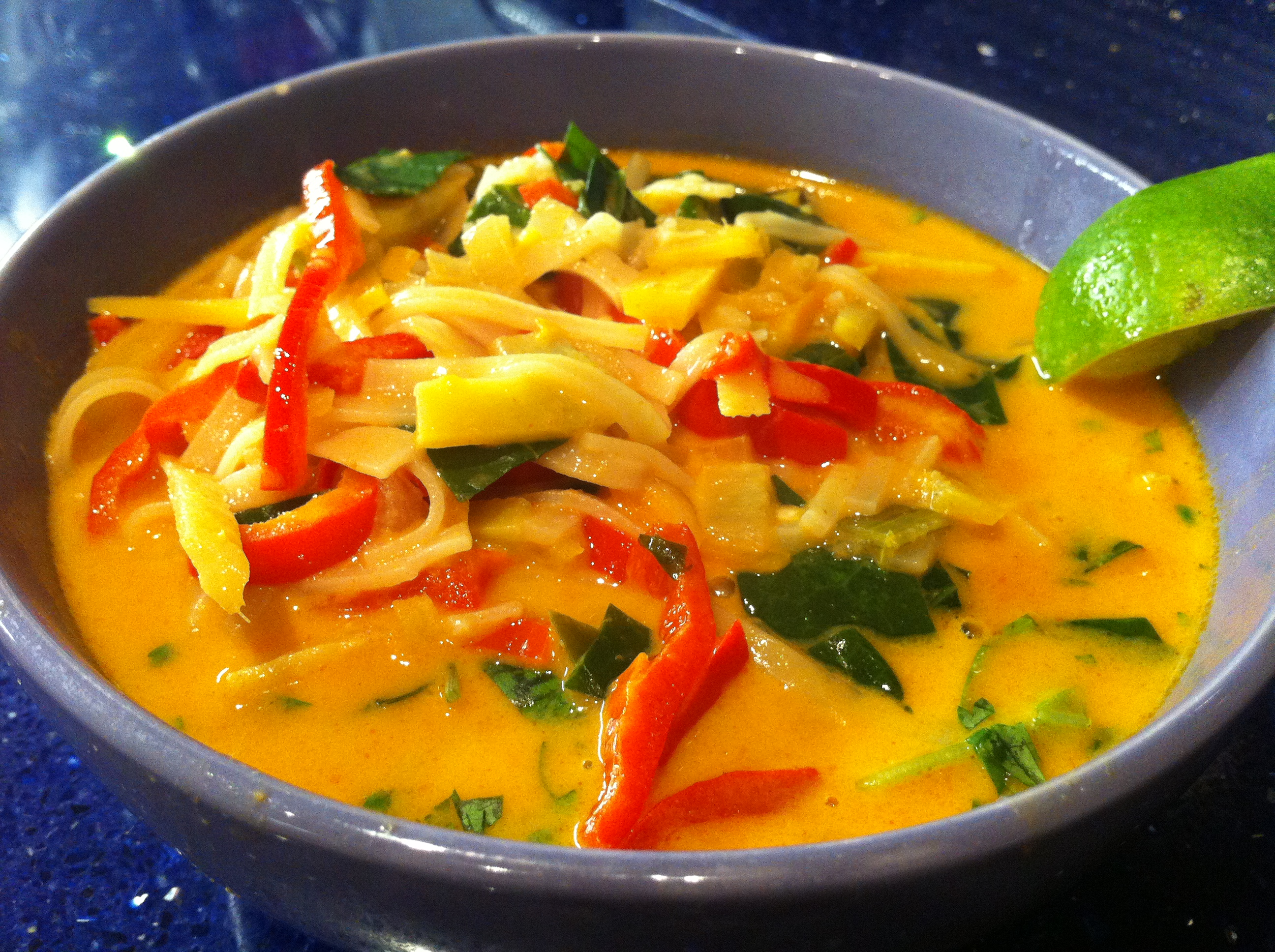 Thai Red Curry Noodle Soup | Kitchen Operas