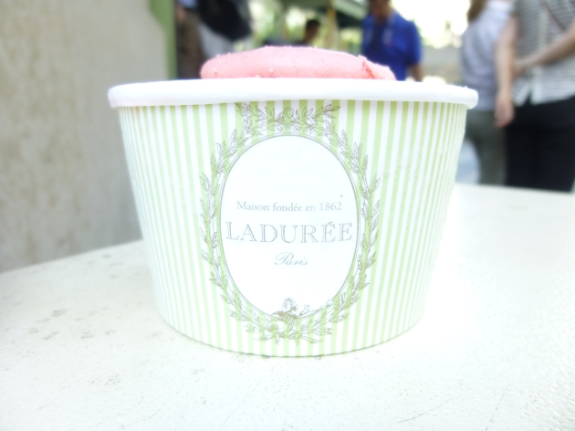 Rose Ice Cream - Ladurée | kitchenoperas.com
