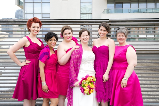 Fuchsia Bridesmaids
