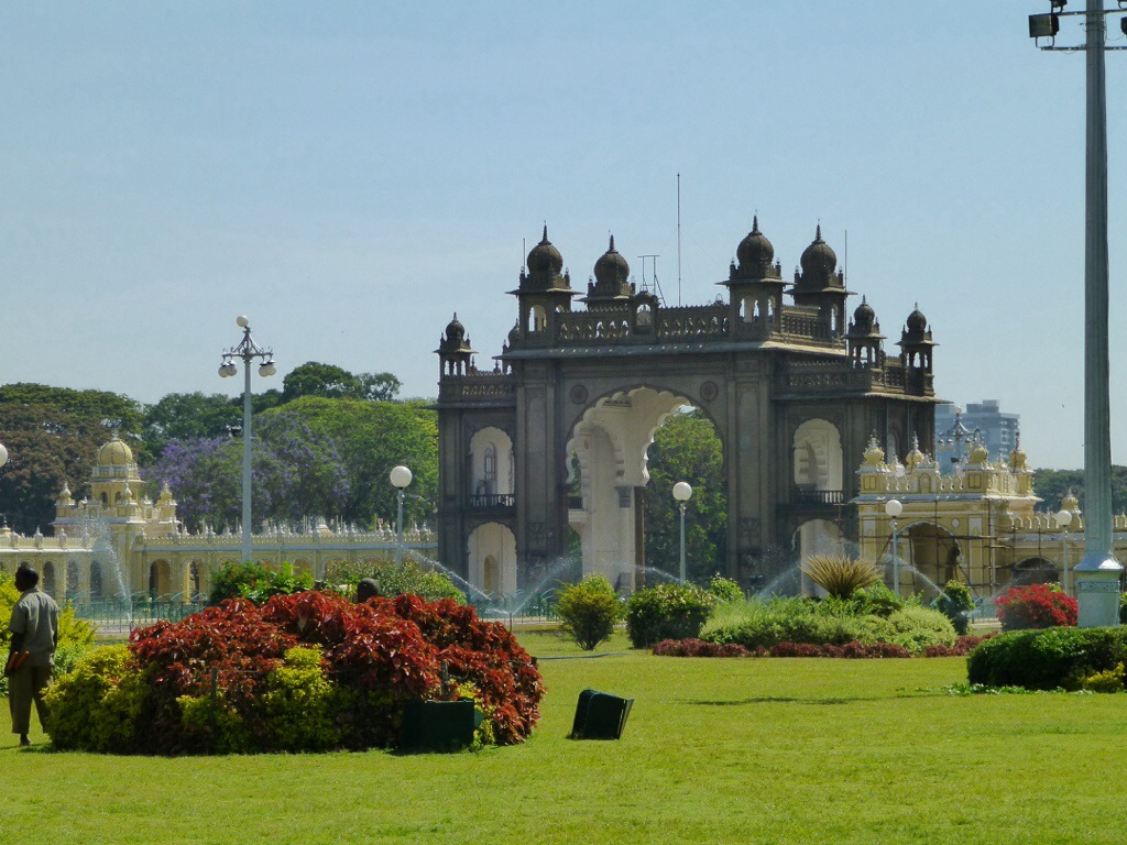 Gate at Mysore Palace | kitchenoperas.com