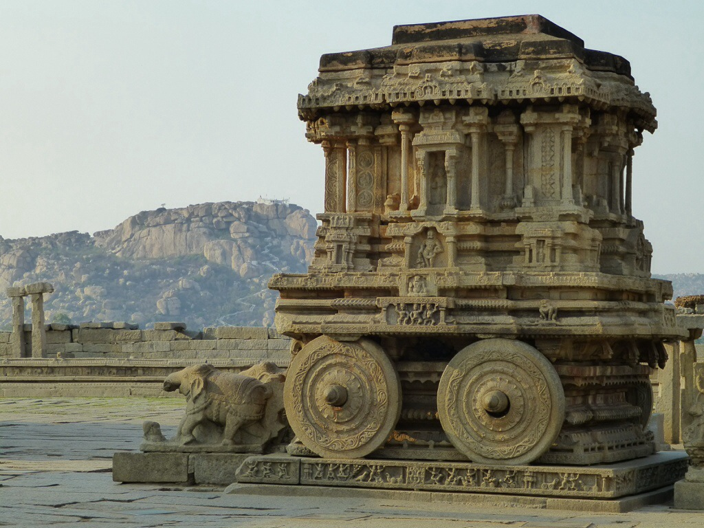 Stone Chariot (Hampi) | kitchenoperas.com