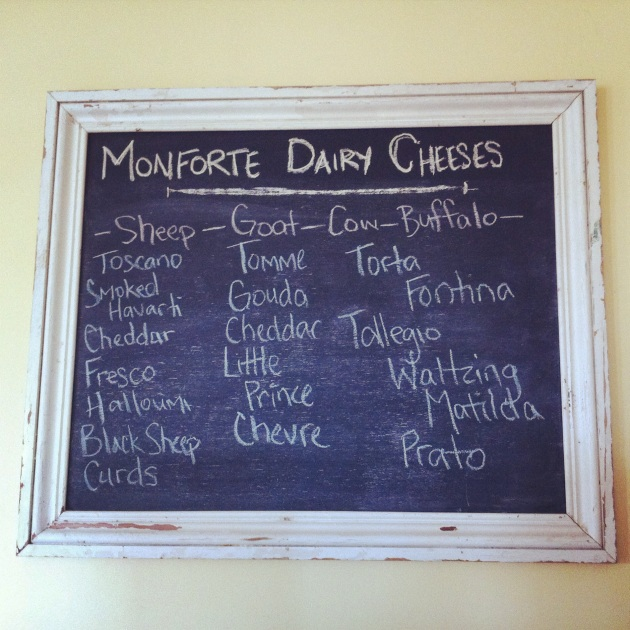 Cheeses at Monforte Dairy | kitchenoperas.com