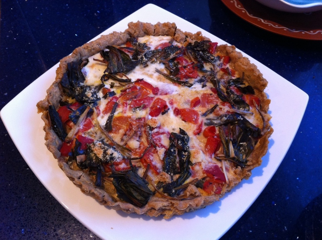 Roasted Pepper & Ramp Gluten-Free Tart | kitchenoperas.com