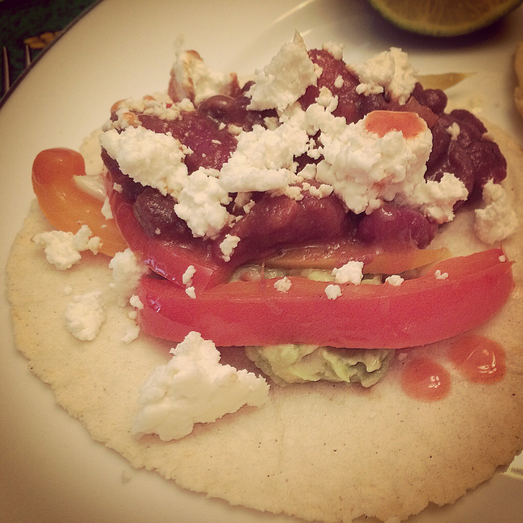 Queso Fresco on Homemade Tacos | kitchenoperas.com