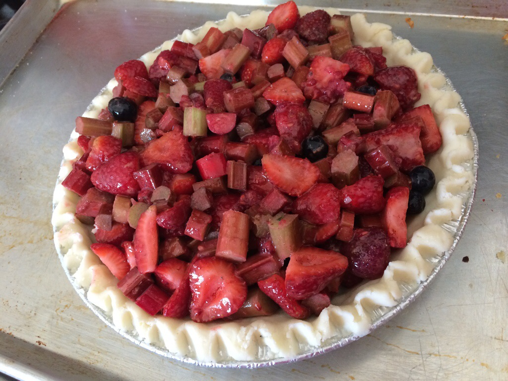 Strawberry-Rhubarb Gluten-Free Pie | kitchenoperas.com