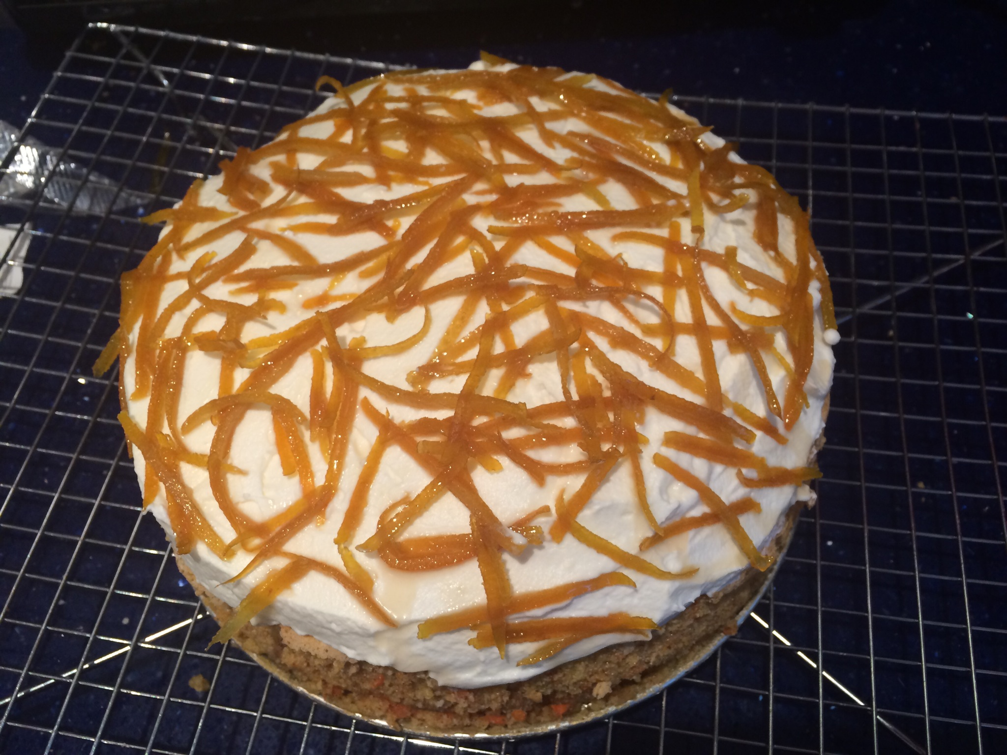 Gluten-Free Carrot Cake with Mascarpone Frosting & Candied Orange Peel ...