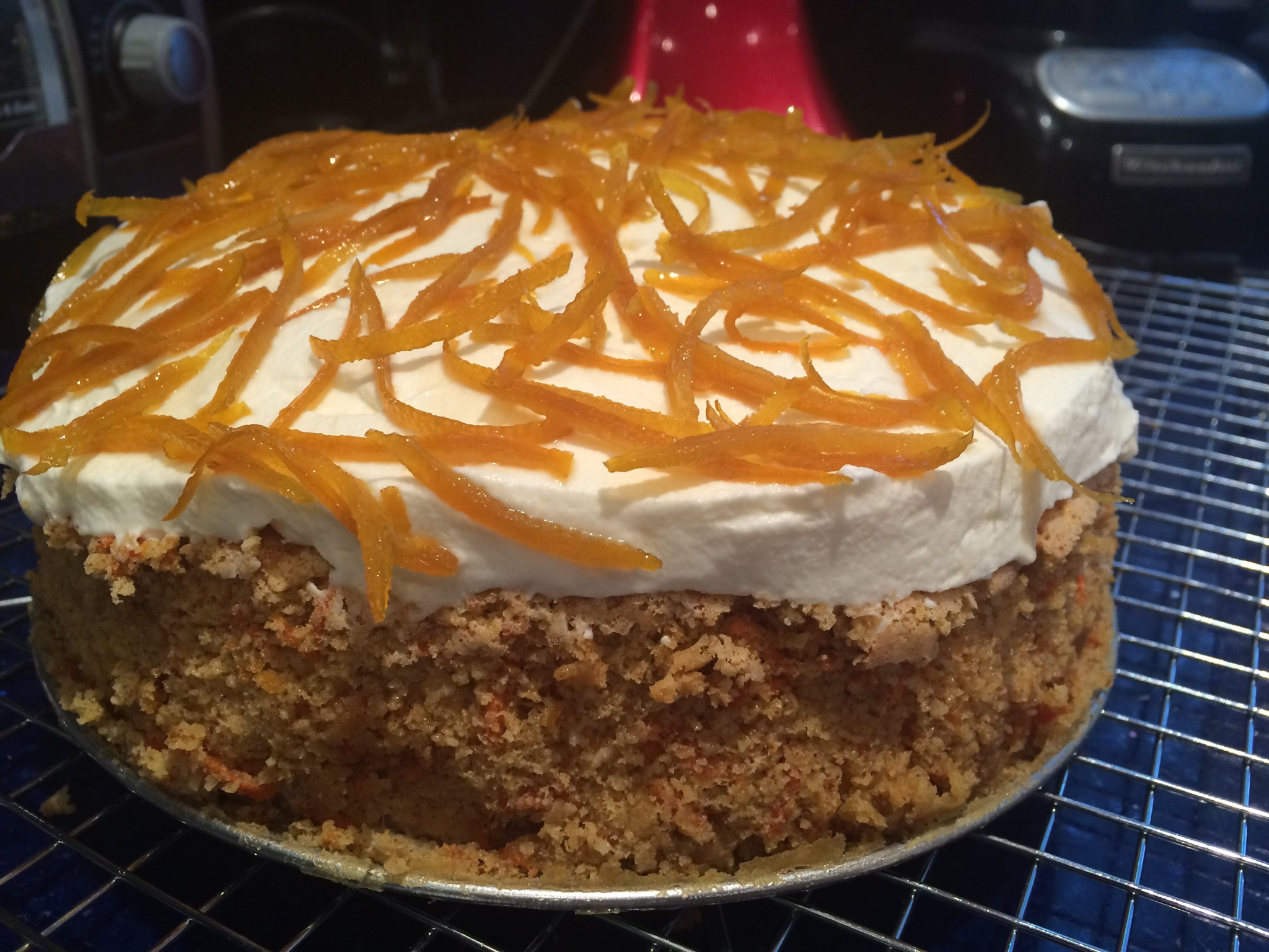 Gluten-Free Carrot Cake with Mascarpone Icing | kitchenoperas.com