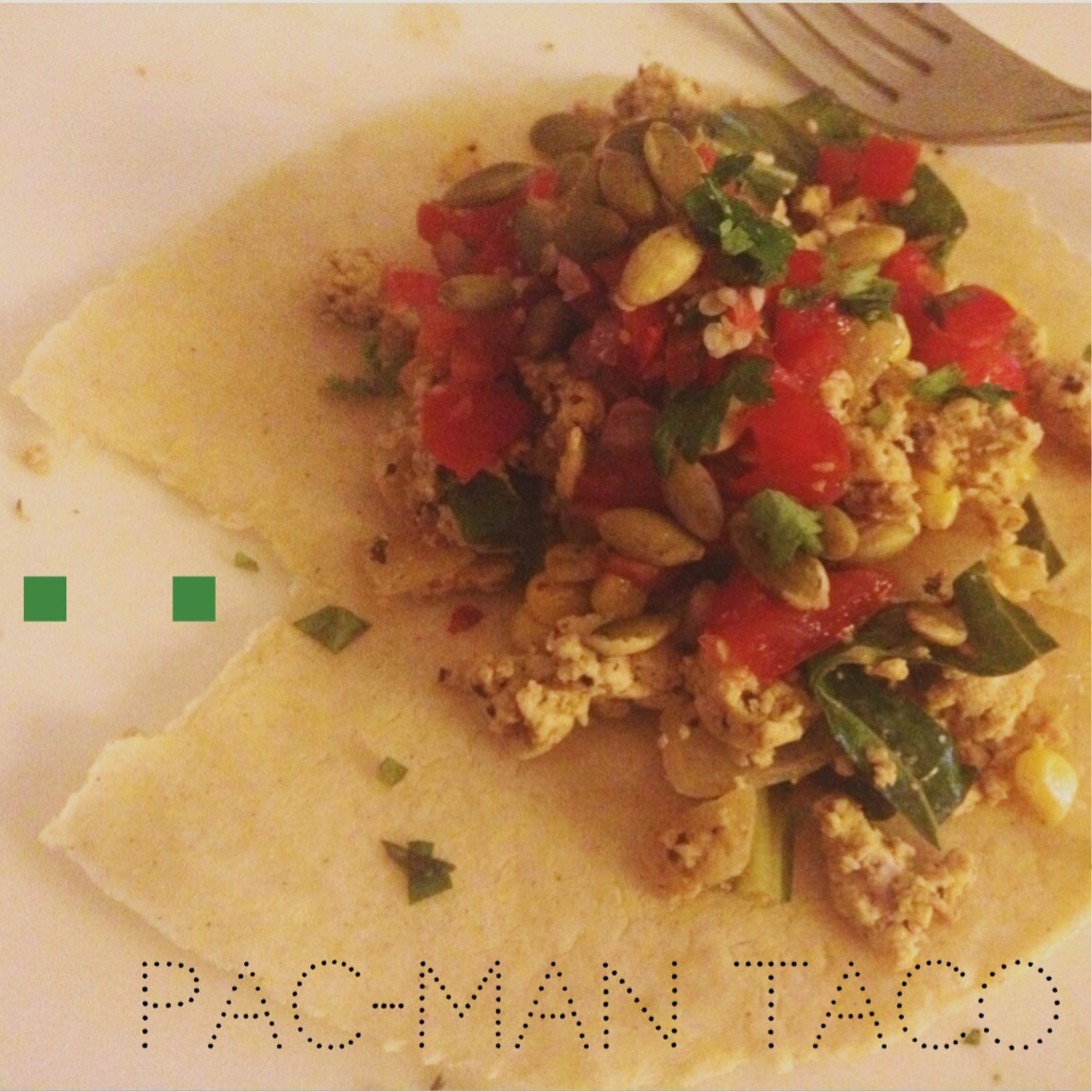 Vegan Pac-Man Breakfast Tacos | kitchenoperas.com