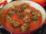 Turkey, Mozzarella & Beet Green Meatballs | kitchenoperas.com